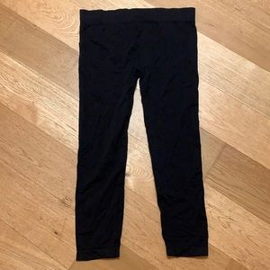 Black cropped Capri leggings 2X